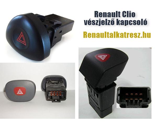 Renault Clio vészjelző kapcsoló